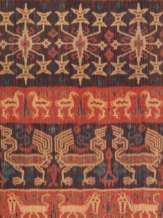 Hinggi Man's Wrap, detail.  East Sumba, Indonesia