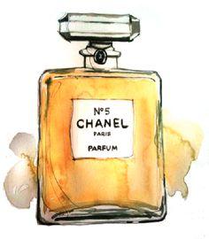 chanel no5 watercolour