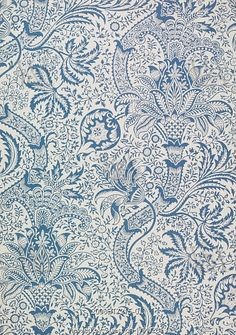 Indian wallpaper, by Sir George Gilbert Scott, for Morris & Co. England, late 19th century