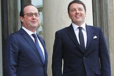 """Vertice Italia-Francia all'Eliseo: """"Intervento in Libia non in agenda"""". Renzi (più di Hollande) fa melina…"""