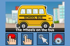 The Wheels on the Bus - free teaching activity for switch, touchscreen, pointing device and eye gaze users. Use online or download for Windows PC.