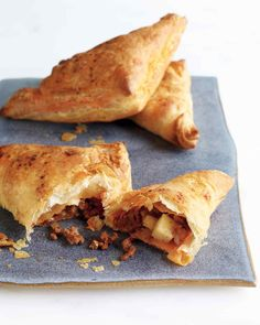 Store-bought puff pastry makes these pies extra easy. Serve them with a green salad.