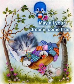 Solve Good Night - Sweet Dreams :) jigsaw puzzle online with 72 pieces Cute Images, Cute Pictures, Good Night Everyone, Photo Chat, Good Night Sweet Dreams, Nighty Night, Cat Cards, Illustrations, Handmade Decorations