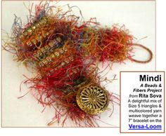 Mindi a Beads & Fibers Project for the Versa-Loom