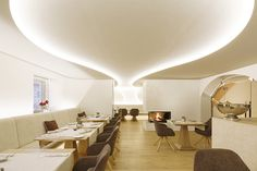 room code uses muted, organic forms to transform restaurant hummel