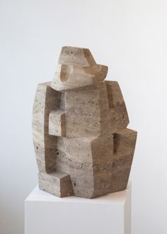 Costantino Nivola - Travertine 5 | From a unique collection of sculptures at http://www.1stdibs.com/art/sculptures/