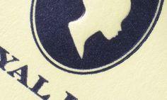 Letterpressed envelope.   More at: http://baddeleybrothers.com/print-techniques/letterpress