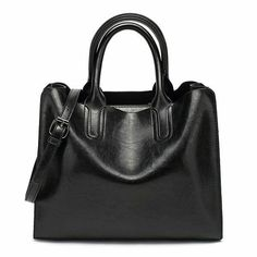 Valenkuci Leather Handbags Big Women Bag Casual Bags Trunk Tote Shoulder Bag Ladies Bolsos Color Black Tote Bag Size 32 x 12 x Black Tote Bag, Casual Bags, Leather Shoulder Bag, Shoulder Bags, Womens Tote Bags, Leather Handbags, Tote Handbags, Ladies Handbags, Leather Bags