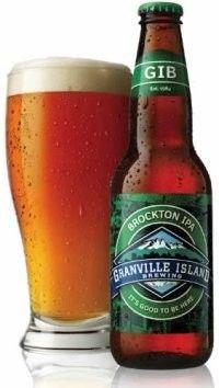 Cerveja Granville Island Brockton IPA, estilo India Pale Ale (IPA), produzida por Granville Island Brewing, Canadá. 6% ABV de álcool.