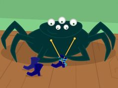 Une araignée sur le plancher Science Halloween, Video Halloween, Theme Halloween, Halloween Games, Tni Maternelle, Halloween Coloring Pictures, French Songs, Preschool Music, French Lessons