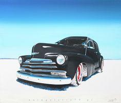 Hot rod 3                                                               Acryl canvas
