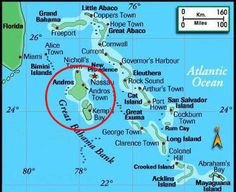 Andros Island Bahamas 27 miles west of Nassau Andros is the