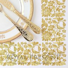 Machine Embroidery Design Gold Flower motif for borders