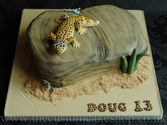 Leopard Gecko Birthday Cake