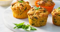 Roasted pumpkin, basil and parmesan muffins