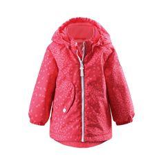 REIMA Girls Mini Jacke Sleet flamingo red #Kinderwinterjacke #Kinderskijacke #pink #alloverprint #reima #warm #kuschelig #Kinder #Mädchen