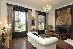 One of the main living areas in the multi-million pound house in Berkshire, which has gran...