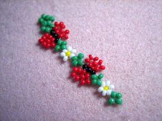 Seed Bead Bracelet Patterns | Day 197 - Butterfly and Daisy Chain Bracelet