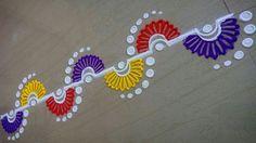 62 Super Ideas For Embroidery Patterns Mandala Fun Rangoli Designs Latest, Simple Rangoli Designs Images, Small Rangoli Design, Colorful Rangoli Designs, Rangoli Designs Diwali, Diwali Rangoli, Beautiful Rangoli Designs, Rangoli Borders, Rangoli Border Designs