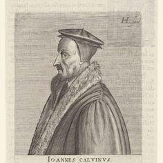 Portret van Johannes Calvijn, Hendrick Hondius (I), 1599 - Rijksmuseum