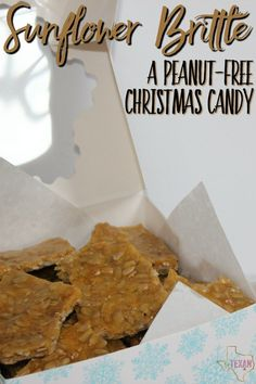 When looking for a peanut-free Christmas candy recipe, this sunflower brittle recipe will do the trick-- it's everything you want in a brittle, but safe!