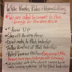 'So much for equality': 'White allies' shown list of protest 'roles & responsibilities'