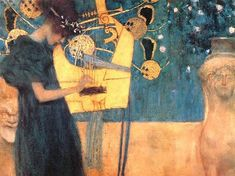 Music - Gustav Klimt. Just bought a print of this today to hang on my living room wall. Love it!