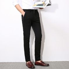 Item Type: Full LengthGender: MenClosure Type: Zipper FlyThickness: MidweightStyle: CasualMaterial: Lycra,Spandex,Cotton,MicrofiberFront Style: FlatLength: Full LengthFit Type: RegularFabric Type: PoplinModel Number: Size(in inches): Stretch Dress Pants, Mens Dress Pants, Urban Outfits, Lycra Spandex, Black Pants, Casual Pants, Black And Grey, Zipper, Elegant