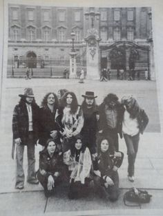 Lynyrd Skynyrd outside Buckingham Palace London England.