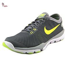Flex Contact GS, Chaussures de Fitness Fille, Gris (Anthracite/Volt/Barely Volt/White), 38.5 EUNike