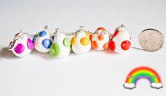 Rainbow Dinosaur Egg Bracelet Charms Handmade by RainbowDarkness,