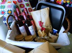 Homemade gifts and wine