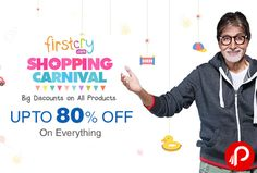 #FirstcryShoppingCarnival offers UPTO 80% off on Everything.+ Extra 10% Cashback on paying through Paytm Wallet. Big Discounts on All Products. including Diapers, Apparel & Fashion Accessories, Toys & gaming, Baby Gear, Nursery, Baby Care, Footwear, Diapering Essentials, Feeding & Nursing, Winter Wear & Many More Products.  http://www.paisebachaoindia.com/upto-80-off-on-everything-shopping-carnival-firstcry/