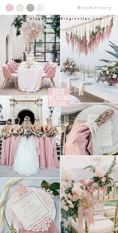 romantic blush pink and ivory spring and summer wedding colors for 2020 romantic blush pink and ivory spring and summer wedding colors for 2020 wedding blush April Wedding Colors, Unique Wedding Colors, Pink Wedding Colors, Wedding Color Schemes, Summer Wedding Themes, Pink Wedding Decorations, Popular Wedding Colors, Wedding Centerpieces, Wedding Ideas