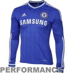 adidas Chelsea FC 201314 Home Long Sleeve Jersey  Royal Blue