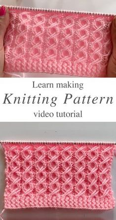 Knitting Stiches, Easy Knitting Patterns, Knitting Designs, Free Knitting, Knitting Projects, Baby Knitting, Crochet Patterns, Crochet Stitches, Knitting Tutorials