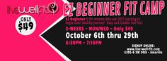 Beginner Fit camp.. For those women who need a SAFE non intimidating place to start moving, learning how to eat healthier and have a blast. Twice a week and sign ups online at www.schedule.live-well-fit.com  ...Choose FIT CAMP