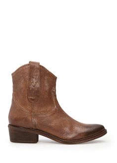MANGO - Cow-boy leather ankle boots