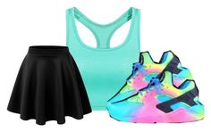"""""""Untitled #584"""" by thuglife-458 ❤ liked on Polyvore featuring NIKE and LE3NO"""