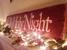 christmas wooden signs | Oh Holy Night Wooden Christmas Sign