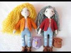 Tiny doll crochet / how to embroidery doll eyes - YouTube