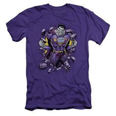 Superman/Bizzaro Breakthrough Short Sleeve Adult T-Shirt 30/1 in