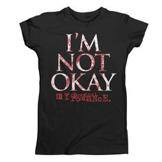 I'm Not Okay Splatter Juniors T-Shirt - Women's - Apparel