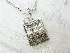 Silver Locket Necklace  The ORIGINAL Silver Garden by birdzNbeez, $28.00