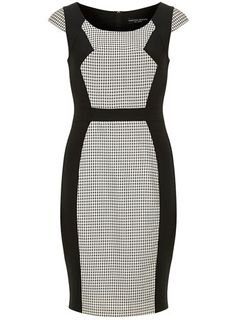 Mono polka panel dress - Going Out & Occasion  - View All Sale - Sale