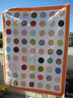 Polka dot spots quilt - would be cute for baby girl