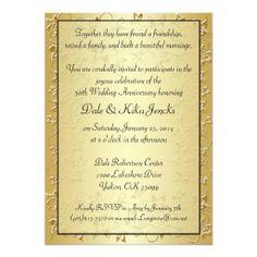 50th Anniversary Invite - elegant