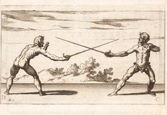 """""""Double Mode of Gaining the Enemy's Sword onthe Inside and the Outside(Pl 15),"""" by Ridolfo Capoferro and Raffaelo Schiaminossi(1610)"""
