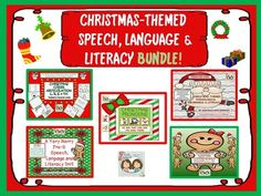 Christmas Bundle! Expressive & Receptive Language, Grammar & Articulation! from Shanda from Shanda on TeachersNotebook.com (386 pages)  - Be prepared for the whole entire month of December with this awesome therapy bun