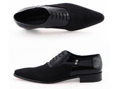 Cesare Paciotti Men's Dress Shoes Black Fabric